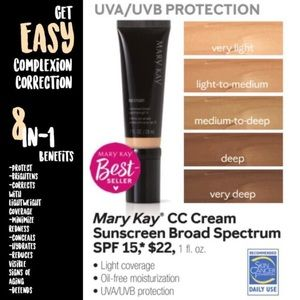 💋MK CC Cream Sunscreen broad spectrum 15spf